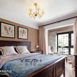 美式卧室带阳台
