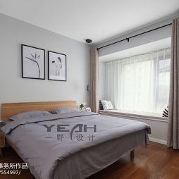 北欧卧室窗台