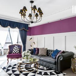 多彩美式客厅颜色搭配