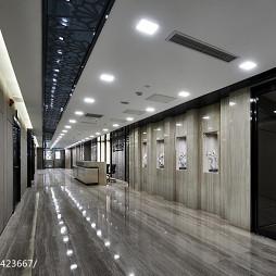 办公会所过道瓷砖地板