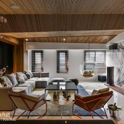 现代风客厅天花板