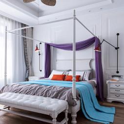 简欧卧室床帐
