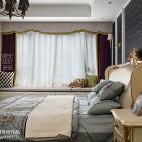温馨美式卧室窗台