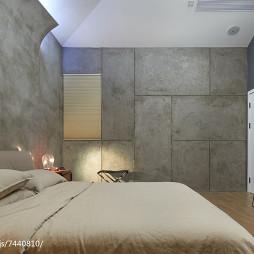 现代别墅卧室效果图