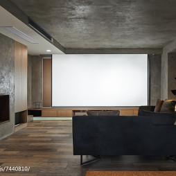 现代风格别墅视听室