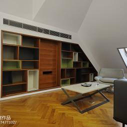 现代阁楼书架