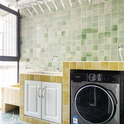 阳台洗衣机柜效果图