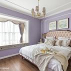淡紫色卧室效果图