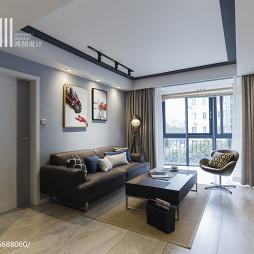 现代混搭客厅沙发背景墙