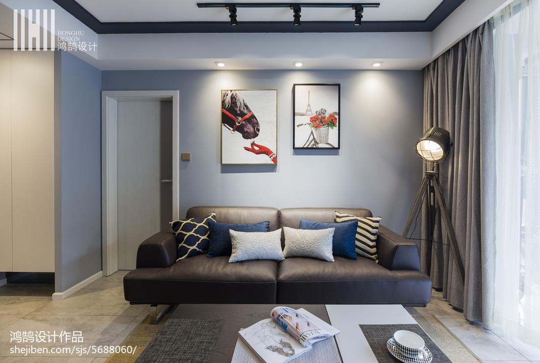 现代茶几_沙发背景墙挂画 – 设计本装修效果图