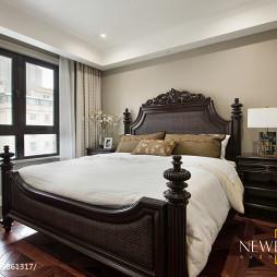 美式卧室木雕床