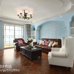 美式客厅沙发背景墙