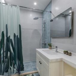現代北歐風衛浴簾