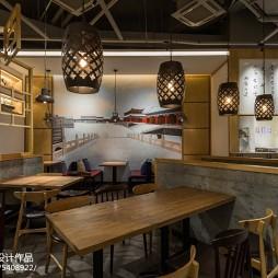 木马勺主题餐厅实木桌椅