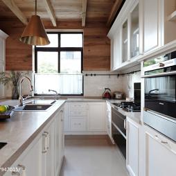 美式厨房白色橱柜