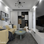 二居室客厅设计