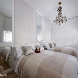 优雅双床卧室设计