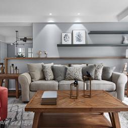 沙发背景墙置物架设计