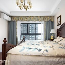 简约美式卧室布置