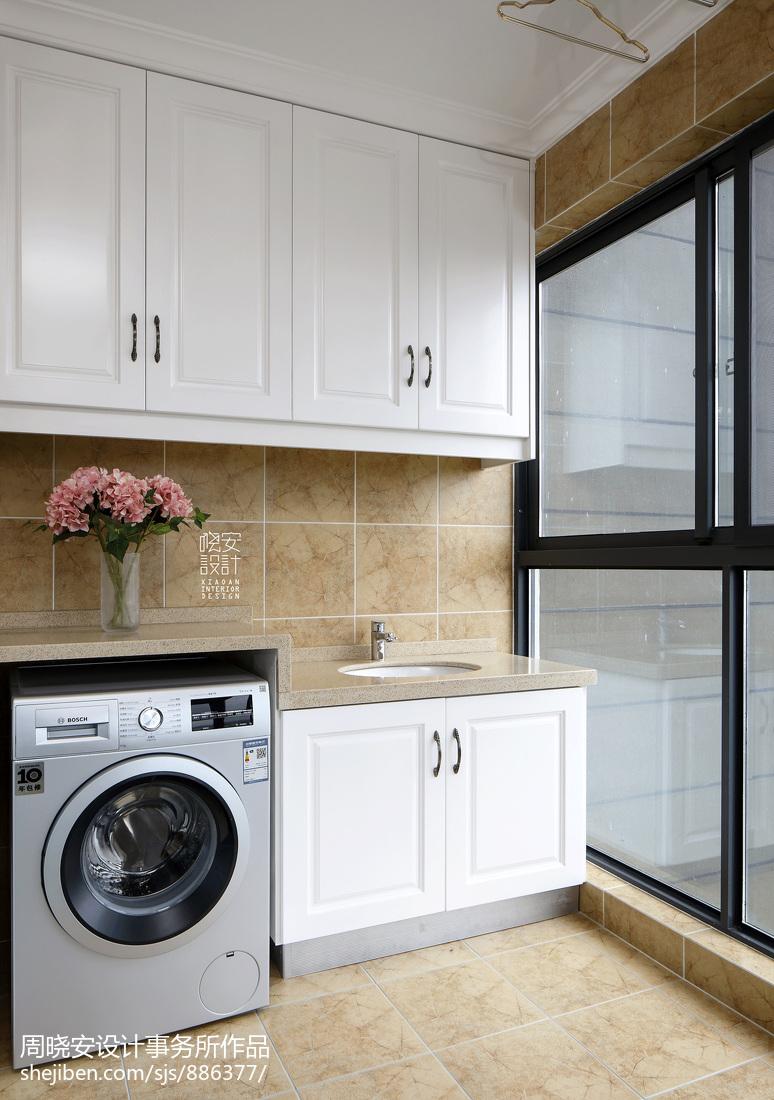 美的洗衣机_阳台洗衣机组合柜 – 设计本装修效果图