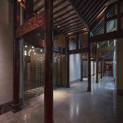 现代中餐厅过道装修