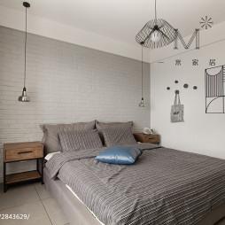 北欧风卧室床头背景墙