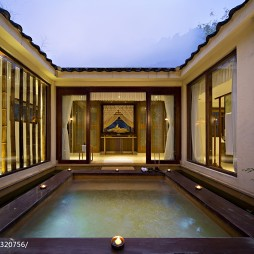 生态度假酒店室外游泳池