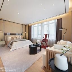 别墅中式卧室效果图