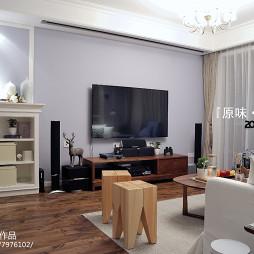 北欧客厅实木电视柜