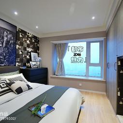 都市卧室窗台设计