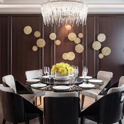 中式样板房餐厅水晶吊灯