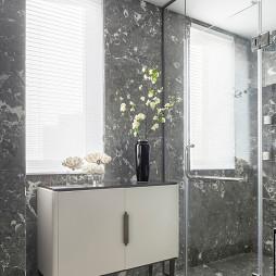 中式样板房卫浴收纳柜