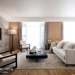 现代客厅白色沙发