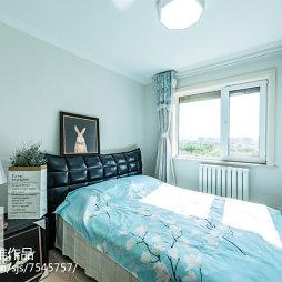 浅蓝色卧室装修效果图