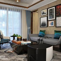 样板间客厅沙发背景墙