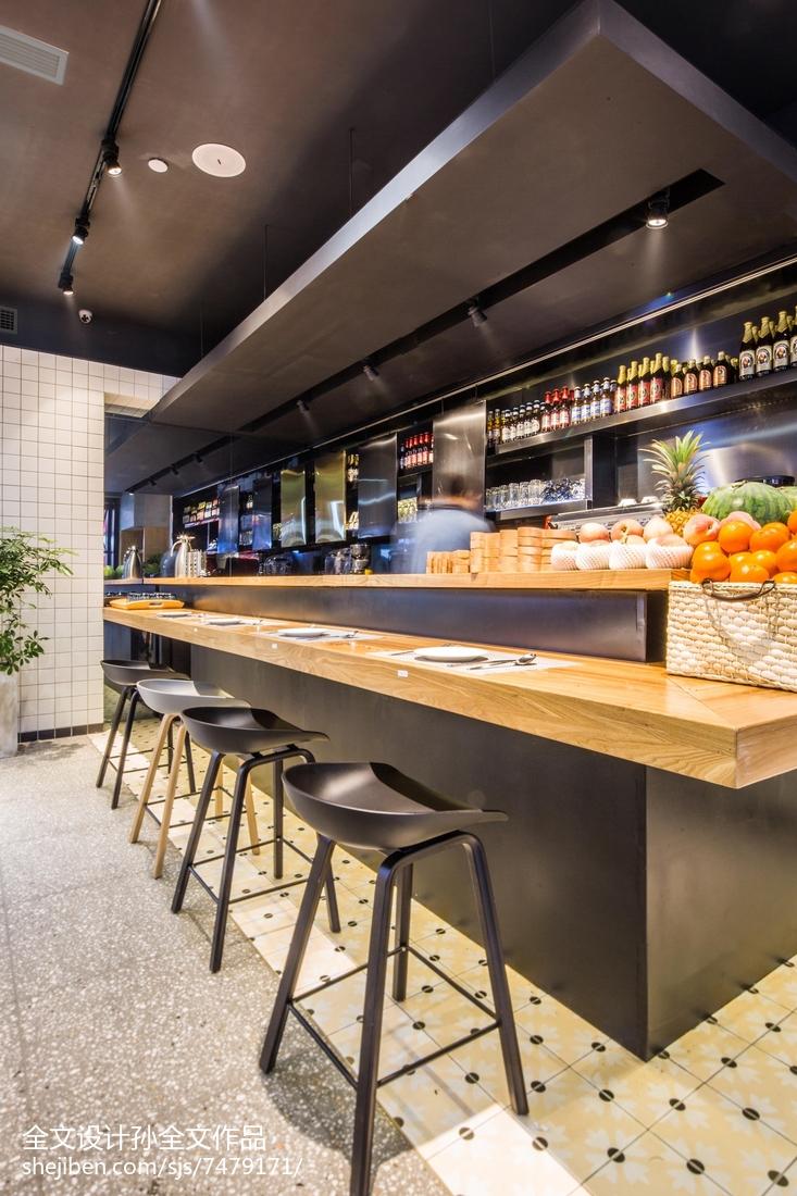 娱乐资讯_美式休闲餐厅吧台设计 – 设计本装修效果图