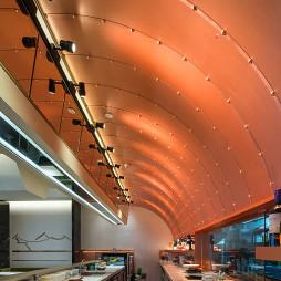 日式料理餐厅吊顶装修
