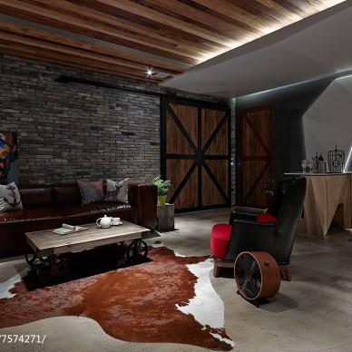 现代别墅沙发背景墙