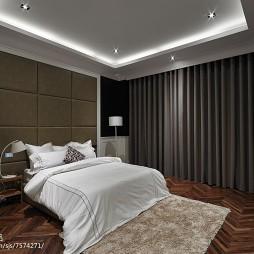 卧室真皮软包背景墙