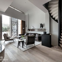 现代别墅客厅装饰图