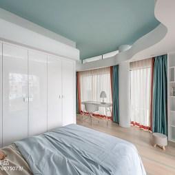 别墅卧室窗帘设计