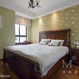美式卧室花瓣壁纸