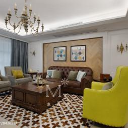 美式客厅布置
