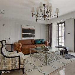 都市美式客厅地毯装修