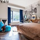 混搭风格卧室背景墙