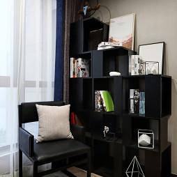 现代风格黑色书架