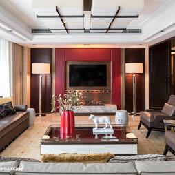 红色电视背景墙装修
