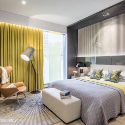 现代展厅时尚卧室布置