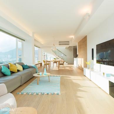 簡約風格復式客廳效果圖