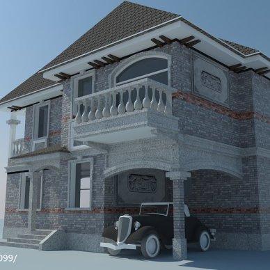 青浦威尼斯花园老屋建筑风格化改造_2730439